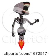Android Containing Chomper Head Design And Light Chest Exoshielding And No Chest Plating And Jet Propulsion Dark Sketch Lines Interacting