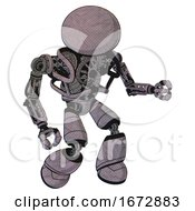 Cyborg Containing Dome Head And Heavy Upper Chest And No Chest Plating And Light Leg Exoshielding Dark Sketch Fight Or Defense Pose