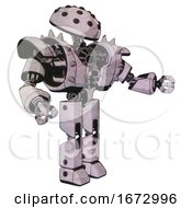 Robot Containing Black Sphere Cam Design And Heavy Upper Chest And Heavy Mech Chest And Shoulder Spikes And Prototype Exoplate Legs Sketch Pad Dots Pattern Interacting