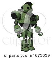 Android Containing Oval Wide Head And Techno Mohawk And Heavy Upper Chest And Chest Compound Eyes And Prototype Exoplate Legs Grass Green Facing Left View