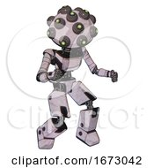 Bot Containing Many Robo Eye Domehead Design And Light Chest Exoshielding And Ultralight Chest Exosuit And Prototype Exoplate Legs Sketch Pad Dots Pattern Fight Or Defense Pose