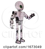 Robot Containing Grey Alien Style Head And Led Array Eyes And Light Chest Exoshielding And Prototype Exoplate Chest And Ultralight Foot Exosuit Sketch Pad Doodle Lines Interacting