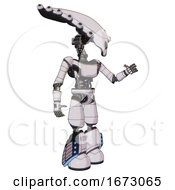 Android Containing Flat Elongated Skull Head And Light Chest Exoshielding And Ultralight Chest Exosuit And Light Leg Exoshielding And Megneto Hovers Foot Mod White Halftone Toon Interacting