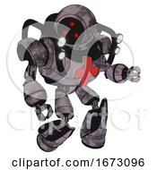 Automaton Containing Three Led Eyes Round Head And Heavy Upper Chest And First Aid Chest Symbol And Shoulder Headlights And Light Leg Exoshielding And Stomper Foot Mod Sketch Pad Cloudy Smudges