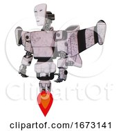 Bot Containing Humanoid Face Mask And Light Chest Exoshielding And Prototype Exoplate Chest And Stellar Jet Wing Rocket Pack And Jet Propulsion Sketch Pad Dirty Smudge