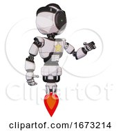 Bot Containing Green Dot Eye Corn Row Plastic Hair And Light Chest Exoshielding And Yellow Star And Jet Propulsion White Halftone Toon Interacting