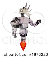 Droid Containing Bird Skull Head And Yellow Led Protruding Eyes And Light Chest Exoshielding And Prototype Exoplate Chest And Rocket Pack And Jet Propulsion Sketch Pad Interacting