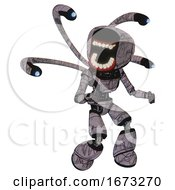 Bot Containing Chomper Head Design And Light Chest Exoshielding And Ultralight Chest Exosuit And Blue Eye Cam Cable Tentacles And Light Leg Exoshielding Dark Sketch Random Doodle
