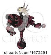 Android Containing Bird Skull Head And Big Yellow Eyes And Heavy Upper Chest And Heavy Mech Chest And Unicycle Wheel Muavewood Halftone Grunge Interacting