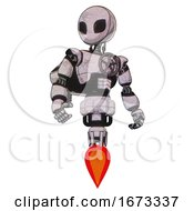 Automaton Containing Grey Alien Style Head And Black Eyes And Light Chest Exoshielding And Chest Valve Crank And Rocket Pack And Jet Propulsion Sketch Pad Light Hero Pose