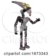 Mech Containing Flat Elongated Skull Head And Yellow Eyeball Array And Light Chest Exoshielding And Ultralight Chest Exosuit And Ultralight Foot Exosuit Smudgy Sketch Interacting