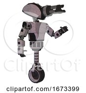 Mech Containing Gatling Gun Face Design And Light Chest Exoshielding And Prototype Exoplate Chest And Unicycle Wheel Dark Sketch Interacting