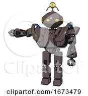 Robot Containing Oval Wide Head And Yellow Eyes And Minibot Ornament And Heavy Upper Chest And Heavy Mech Chest And Battle Mech Chest And Prototype Exoplate Legs Light Brown