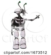 Cyborg Containing Dual Retro Camera Head And Shrimp Head And Light Chest Exoshielding And Rocket Pack And No Chest Plating And Light Leg Exoshielding White Halftone Toon