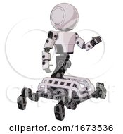 Bot Containing Round Head And Light Chest Exoshielding And Prototype Exoplate Chest And Insect Walker Legs White Halftone Toon Interacting