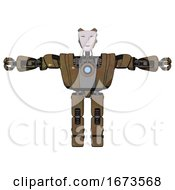 Android Containing Humanoid Face Mask And Heavy Upper Chest And Heavy Mech Chest And Blue Energy Fission Element Chest And Prototype Exoplate Legs Old Copper T Pose