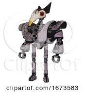 Automaton Containing Bird Skull Head And Red Led Circle Eyes And Robobeak Design And Heavy Upper Chest And Heavy Mech Chest And Ultralight Foot Exosuit Dark Dirty Scrawl Sketch