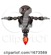 Automaton Containing Oval Wide Head And Beady Black Eyes And Light Chest Exoshielding And Rubber Chain Sash And Rocket Pack And Jet Propulsion Light Brown T Pose