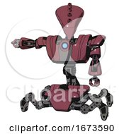 Android Containing Flat Elongated Skull Head And Heavy Upper Chest And Heavy Mech Chest And Blue Energy Fission Element Chest And Insect Walker Legs Muavewood Halftone