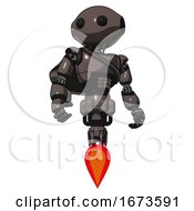 Automaton Containing Oval Wide Head And Beady Black Eyes And Light Chest Exoshielding And Rubber Chain Sash And Rocket Pack And Jet Propulsion Light Brown Hero Pose