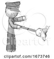 Poster, Art Print Of Sketch Police Man Holding Jesterstaff - I Dub Thee Foolish Concept