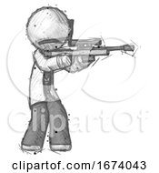 Sketch Doctor Scientist Man Shooting Sniper Rifle