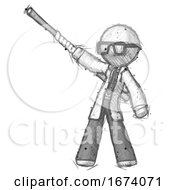 Sketch Doctor Scientist Man Bo Staff Pointing Up Pose