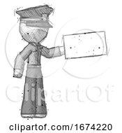 Sketch Police Man Holding Large Envelope