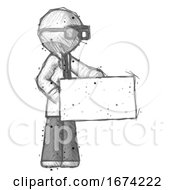Sketch Doctor Scientist Man Presenting Large Envelope