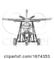 Sketch Detective Man In Ultralight Aircraft Front View