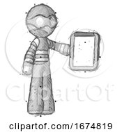 Poster, Art Print Of Sketch Thief Man Showing Clipboard To Viewer