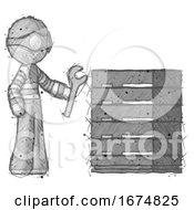 Poster, Art Print Of Sketch Thief Man Server Administrator Doing Repairs