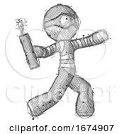 Sketch Thief Man Throwing Dynamite
