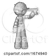 Sketch Thief Man Suicide Gun Pose