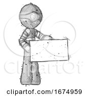 Poster, Art Print Of Sketch Thief Man Presenting Large Envelope