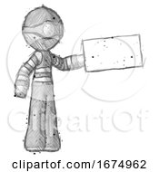 Poster, Art Print Of Sketch Thief Man Holding Large Envelope