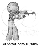 Sketch Thief Man Shooting Sniper Rifle
