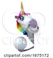 3d Unicorn On A White Background