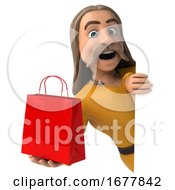 3d Gaul Man On A White Background