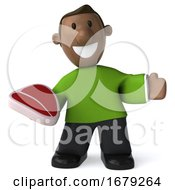 10/14/2019 - 3d Casual Black Man On A White Background