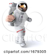 10/14/2019 - 3d Cosmonaut On A White Background