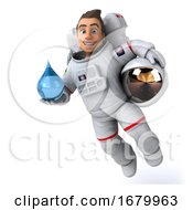 10/15/2019 - 3d Cosmonaut On A White Background