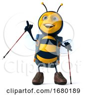 10/15/2019 - 3d Bee On A White Background