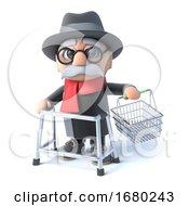 Poster, Art Print Of 3d Grandpa Goes Shopping