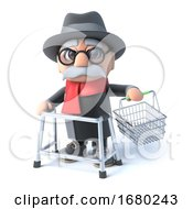 3d Grandpa Goes Shopping
