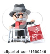 Poster, Art Print Of 3d Grandpa Has Been To The Sales