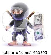 3d Ninja Assassin Has A Wad Of US Dollars