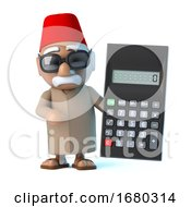 3d Moroccan Has A Calculator by Steve Young