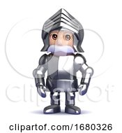3d Knight Stands To Attention