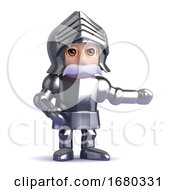 3d Knight Points To The Left